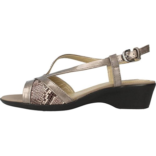 Sandalen/Sandaletten, farbe Metallic-Farbe , marke GEOX, modell Sandalen/Sandaletten GEOX D NEW CORAL Metallic-Farbe Gold