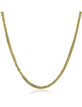 18 Karat 750 Gold Diamantschliff Spiga Weizen Gelbgold Kette - Breite 1.50 mm - Länge wählbar