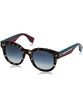 Fendi Ff 0026/S 08, Gafas de Sol para Mujer, Bwhvn Ciclam, 50