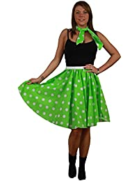 Plain and Polka Dot Full Circle Skirt FREE neck tie X-Large Plus Size