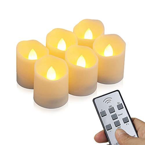 LED Kerzen, otumixx 6 LED Flammenlose Teelichter, Flackern -