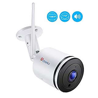 Wireless Security IP Camera Outdoor,Ctronics 1080P HD Home WiFi CCTV Surveillance Camera with 110° Wide View Angle,2-Way Audio,98ft IR Night Vision,IP65 Waterproof,Motion Detection