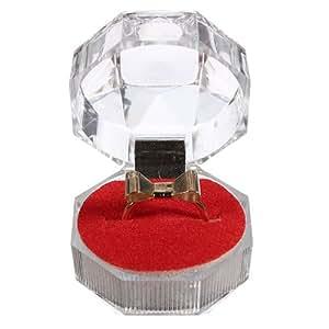 Crystal Ring Earrings Brooch Storage Display Case Jewelry Gift Box