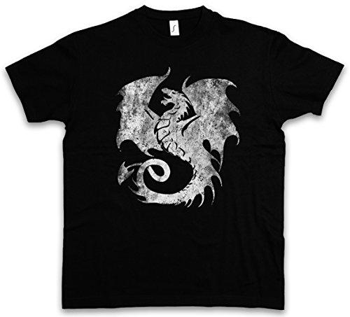 Urban Backwoods Dragon V T-Shirt - Taglie S - 5XL Nero