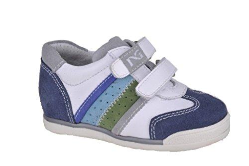 Nero Giardini Junior, Chaussures Premiers Pas pour bébé (garçon) Blanc Blanc 22 - Blanc - Cam. Jeans/Gua. Bianco, 19 EU