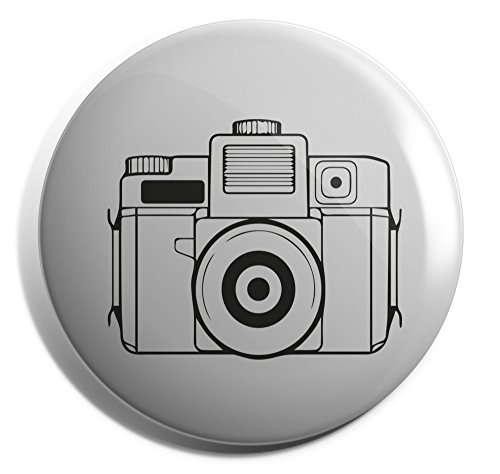 Hippowarehouse illustrated camera Badge Pin 25mm 38mm 50mm