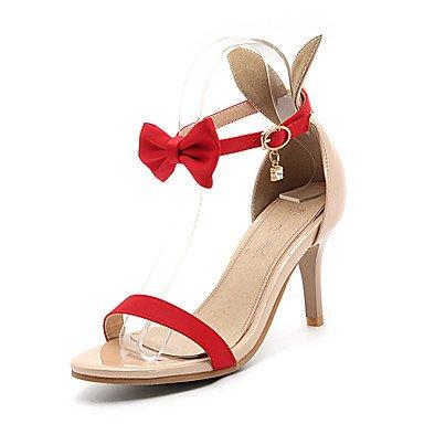 CH&TOU Da donna-Sandali-Formale Casual Serata e festa-Altro-A stiletto-PU (Poliuretano)-Nero Verde Rosso Bianco Red