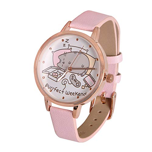 365fbbee8f04 Accutime Watch Pusheen Reloj de Pulsera Purrfect Weekend Cat analógico Rosa