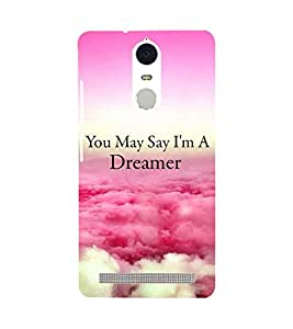 Printvisa Dreamer Quote With A Cloudy Pic Back Case Cover for Lenovo K5 Note
