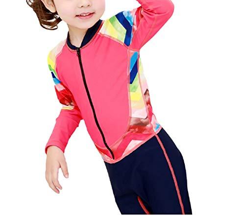 DOOUYTERT Klassisch Kinder Langarm One Piece Badeanzüge Kids Sonnenschutz Neoprenanzug für Wassersport (rot) (Farbe : Red, Größe : M)