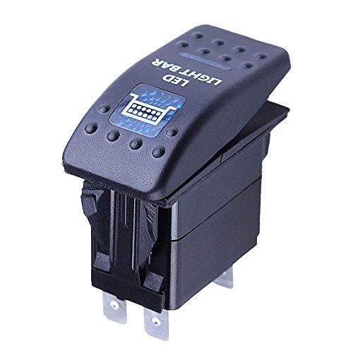 Light Bar-schalter (Mintice™ 12V KFZ Blau LED Licht Beleuchtet Wippenschalter Kippschalter Auto Armaturenbrett Schalter Bar Light)