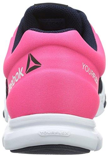 ReebokYourflex Trainette 8.0 - Scarpe Running Donna Schwarz (Collegiate Navy/Solar Pink/White)