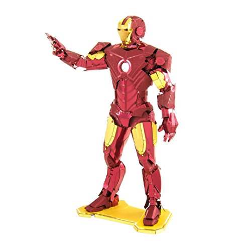 (Fascinations Metal Earth MMS322 - 502642, Marvel Avenger Iron Man, Konstruktionsspielzeug, 3 Metallplatinen, ab 14 Jahren)