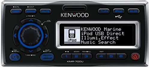 Kenwood KMR-700U Marine-Receiver mit iPod Docking Station schwarz