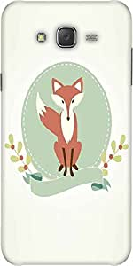 Snoogg A Fox Designer Protective Back Case Cover For Samsung J7