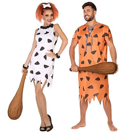 Paare Kostüm Mädchen - Fancy Me Paare passende Damen & Herren 60er Jahre 1960er Jahre Cartoon TV Höhle Mädchen Frau Karneval Kostüm Outfits