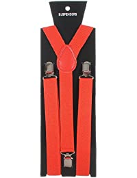 Homeking Bretelles élastiques à clipser Forme Y Réglable Unisexe Fluo