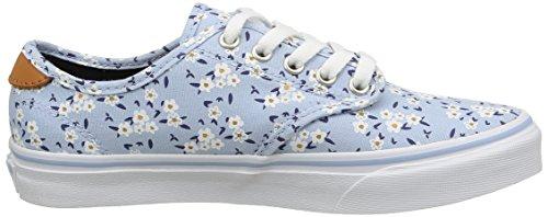 Vans Camden Deluxe, Baskets Basses Femme Bleu (Floral/Blue)