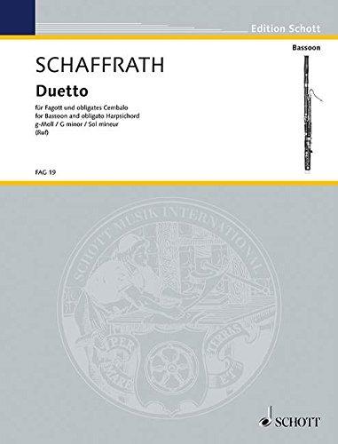 Duetto g-Moll: Fagott und obligates Cembalo. (Edition Schott)