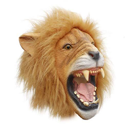 Kinder Deluxe Lion Maske - WSNGD Gruselige Party Deluxe Neuheit Halloween-Kostüm-Party