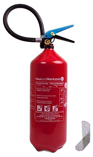 ABF Schaumfeuerlöscher 'Tina' 6 Liter nahtloser Aluminiumbehälter (Fettbrandlöscher FS6-3F Wandhalter Instandhaltungsnachweis)