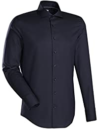 JACQUES BRITT Business Hemd Custom Fit Langarm Bügelleicht Uni / Uniähnlich Businesshemd Hai-Kragen Manschette weitenverstellbar