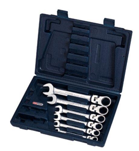 KS TOOLS 503.4859 Jeu de clés mixtes à cliquet inclinable à verrouillage .8 A 19 mm 6pcs