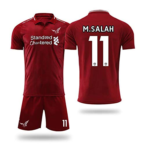 quality design 6626f be45f free-JJ Liverpool F.C.-Mohamed Salah 11 -Football Sports Fan Team Camiseta  Jersey para