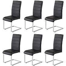 6 X Agionda ® Design Stuhl Freischwinger Jan Piet PU Kunstleder Schwarz NEU  Jetzt 120 Kg