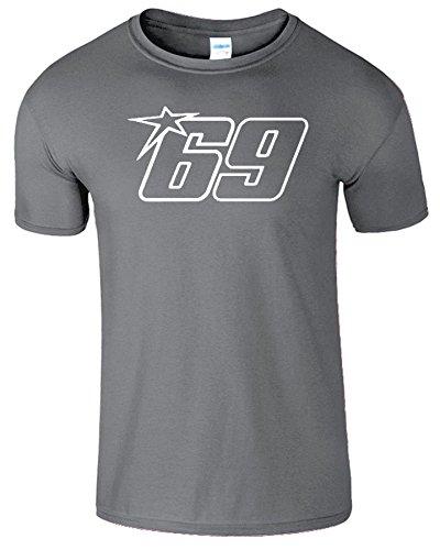 Nicky Hayden Frauen Der Männer Damen MOTO GP T Shirt Anthrazit / Weiß Design