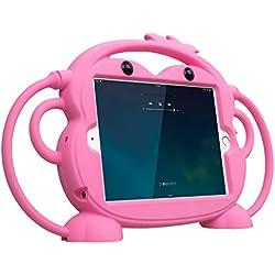 CHIN FAI pour Ipad Mini 5/4/3/2/1 étui, Double Face Singe Shockproof Silicone Peau de Tablette en Silicone, Multiples Angles de visualisation pour Apple 7.9 inch IPad Mini 1/2/3/4/5(Rose)