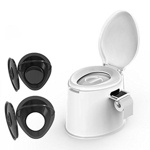 LI Jing Shop - Tragbare Toilette Stuhl kann bewegen, verwenden for Kinder und Schwangere Frauen Umwelt pp Harz, weiß (Color : Anti-Slip Rubber Particles) (Harz-stühle Weiß)