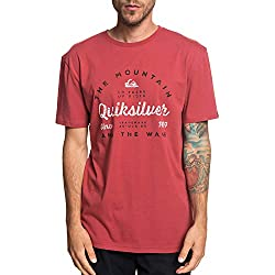 Quiksilver In Drop out Camiseta, Hombre, Rojo (Brick Red), L