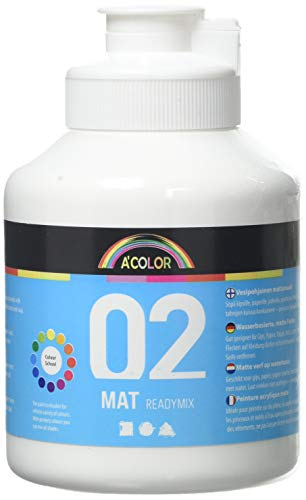 A-Color Mate, blanc, 02 - Mate, 500 ml