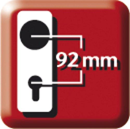 ABUS Tür-Schutzbeschlag HLS214 F4 mit beidseitigem Drücker, 08301 - 4