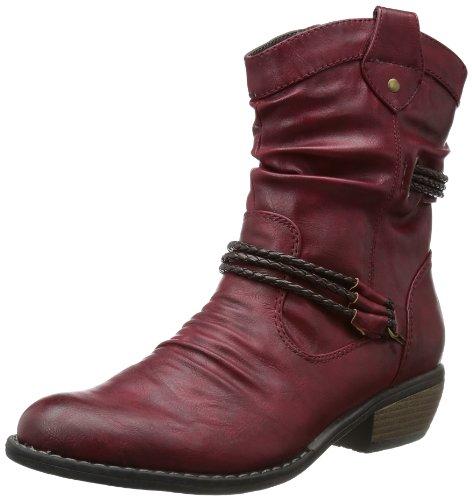 Rieker Damen 92988 Cowboy Stiefel, Rot (vino/testadimoro / 35), 36 EU