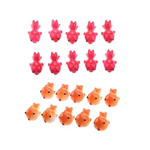 F Fityle 20 Stücke Goldfisch Miniatur Figur Handgemachte Fisch Kunst Tischdekoration Moderne -