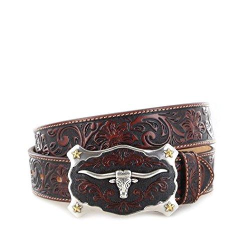 Justin Belts CLASSIC LONGHORN C11194 Tan Ledergürtel für Damen und Herren Braun, Länge:105 (42) (Classic Belt)