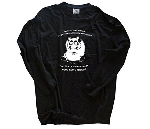 Hast du eine Ahnung wo die Kekse hingekommen sind Longsleeve-Shirt Schwarz XXL