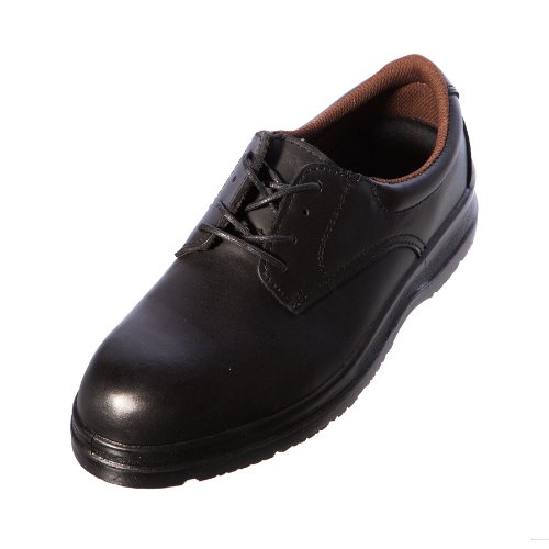 Grafters, Scarpe antinfortunistiche uomo Black Smooth Leather