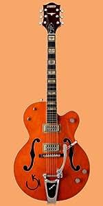 GRETSCH G6120RHH REVEREND HORTON HEAT MICROS TV JONES ORANGE LACQUER Guitare électrique Demi-caisse