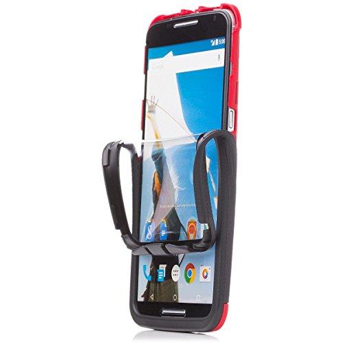 iCues Schutzhülle für Motorola Google Nexus 6 | 2 Part Touch Case Rot | Outdoor Dickes Hardcase Stoßfest Militär Lifeproof Männer Jungs 360 Grad Bildschirm Full Body R&um beidseitig Komplett vorne hinten double Front Hülle Cover Schutz