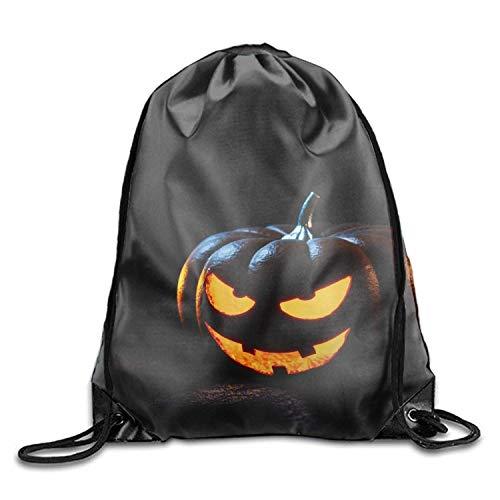 Naiyin Personalized Happy Halloween Drawstring Backpack Sports Bag (Happy Halloween Kitty)