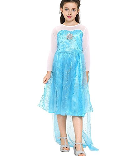 Freefly Frozen Girls Princess Costume Cosplay Fancy Dress Party Outfit Kids
