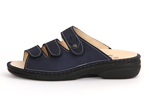 Finn Comfort 2554373041, Mules pour Femme Blau (Atlantic)