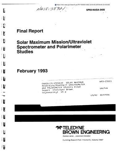 Solar maximum mission/ultraviolet spectrometer and polarimeter studies