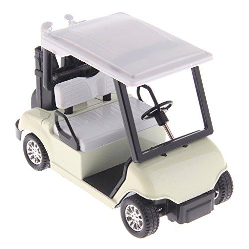 Gazechimp 1: 20 Zurückziehen Fahrzeugmodell - Golf Cart mit Clubs Druckguss Modell - Kinder Spielzeug Geschenk - 11,5 x 5,7 x 7,5 cm (Golf Clubs Hoch)