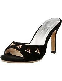 Easemax Femme Fashion Fermeture à Enfiler Talon Aiguille Stiletto Mules 7e44e6e24e0c