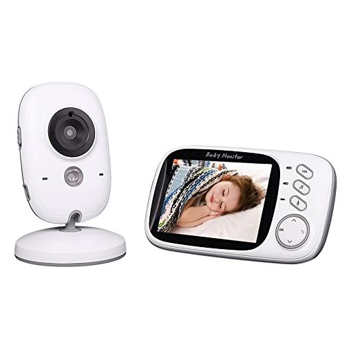 Goodsmiley Baby Monitor Color LCD Wireless Digital Audio Video Security Camera with Night Vision, Temperature Monitoring and Two-Way Talkback System 41OH3cki9eL