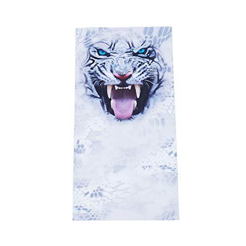 Digital-tücher (RETYLY Weisses Tiger-Masken im Freienreitende Halskette-magisches Tuch-Digital 3D Drucken)